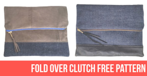 Fold over clutch free pattern and instructions