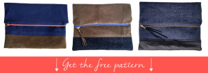 DIY Fold over clutch free pattern and instructions.