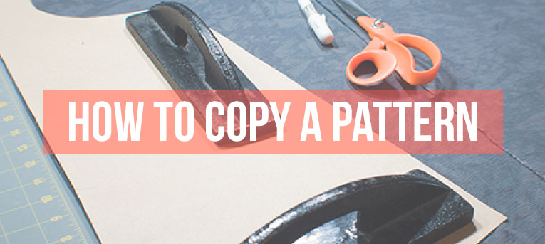 Learn how to 'copy' or 'rub-off' an existing garment to make a sewing pattern