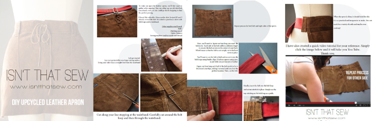 Leather Apron DIY free ebook  | www.isnthtatsew.org