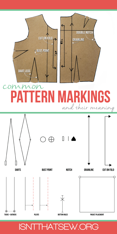 common pattern markings. Black Bedroom Furniture Sets. Home Design Ideas