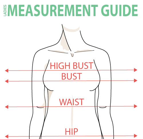 Bright image inside printable body measurement chart for sewing