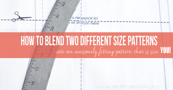 Learn how to blend two different size patterns | isntthatsew.org