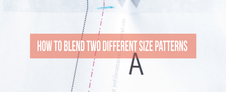 How to blend two different size pattern to create one that fits you! | isntthatsew.org