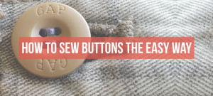 How to sew a button, the easy way. | isntthatsew.org