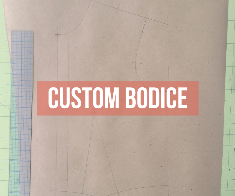 How to draft a custom fit bodice pattern block the easy way