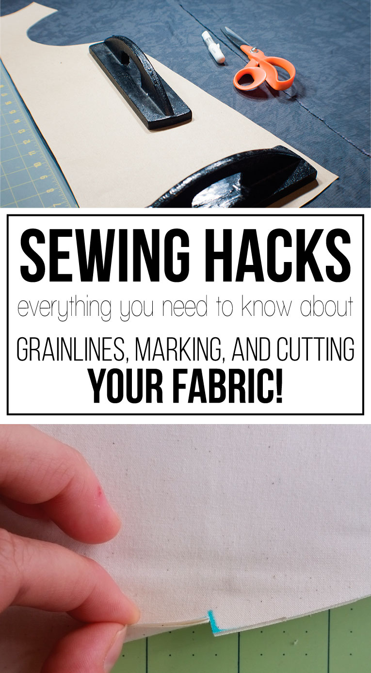 Sewing Hacks | Everything you ever wanted to know about grainlines, marking, and cutting fabric! | www.isntthatsew.org