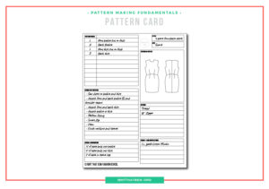 What is a pattern card and why you need one!