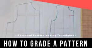 Learn how to grade a sewing pattern up or down using the cut and spread|close method.