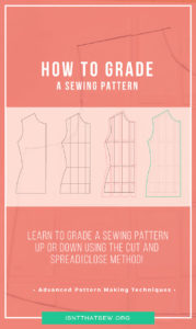 How to grade a sewing pattern using the cut and spread|overlap method | isntthatsew.org