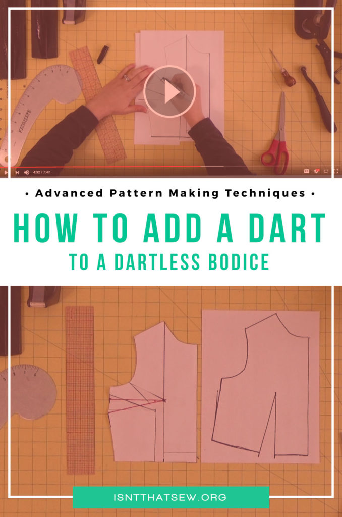 How to add a dart to a dartless bodice, two ways! | www.isntthatsew.org