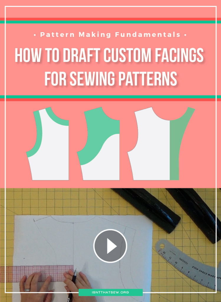 How to draft custom facings for you sewing patterns | www.isntthatsew.org