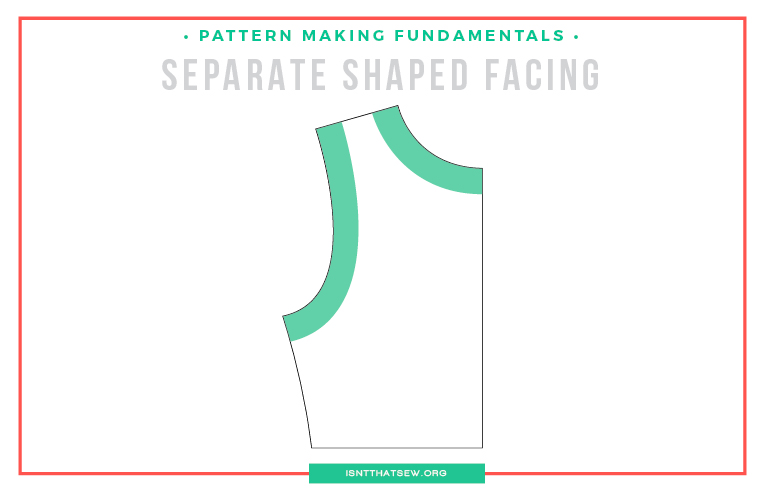 How to draft a shaped armhole facing | www.isntthatsew.org