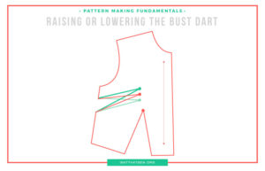 How to raise or lower the bust dart | Isn't that Sew