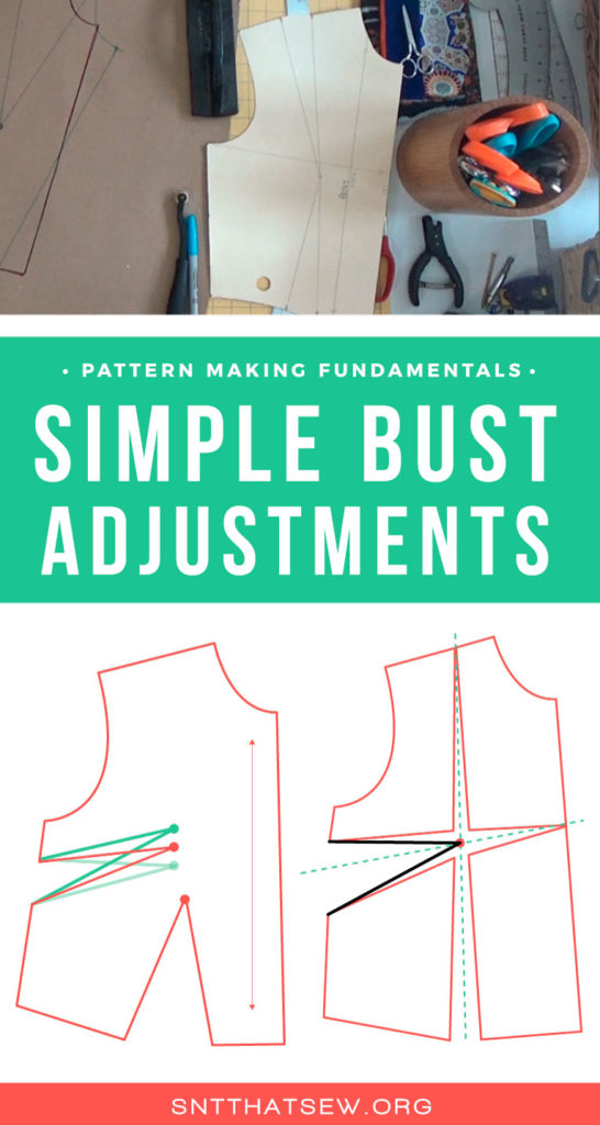 How to perform simple bust adjustments to your bodice block | Isn't that Sew